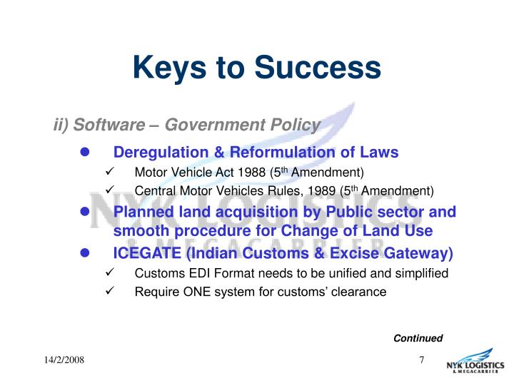 ii) Software – Government Policy