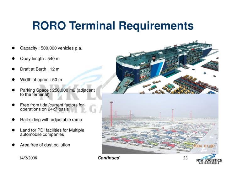 RORO Terminal Requirements