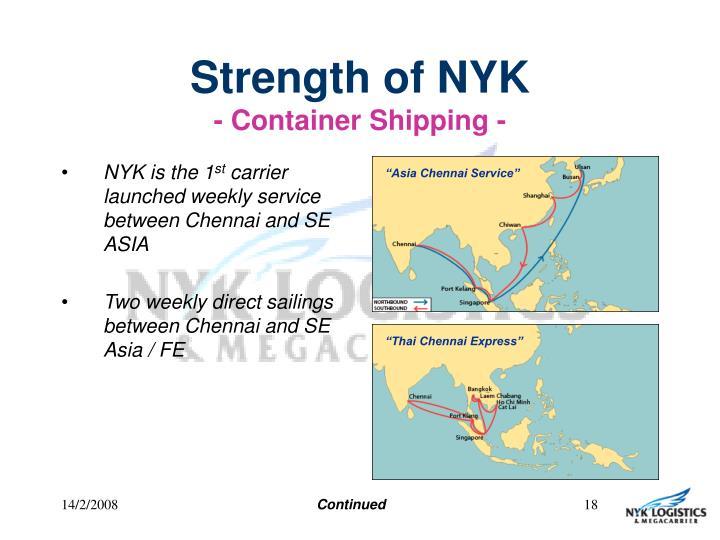 Strength of NYK