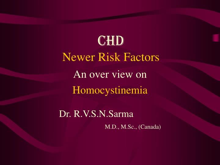 chd newer risk factors