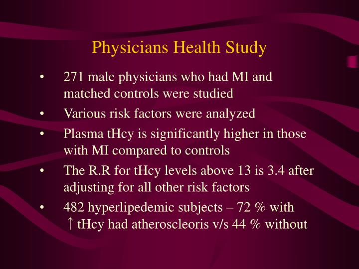 Physicians Health Study