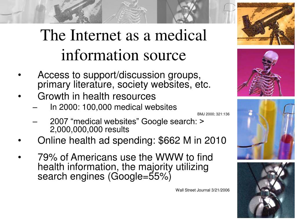 The Internet as a medical information source