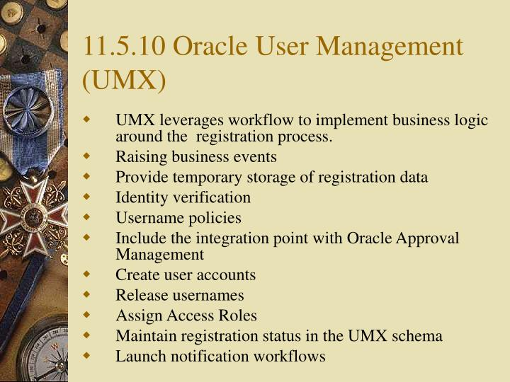 11.5.10 Oracle User Management (UMX)