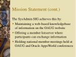 mission statement cont