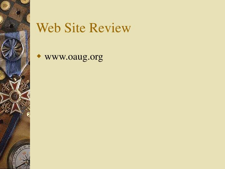 Web Site Review