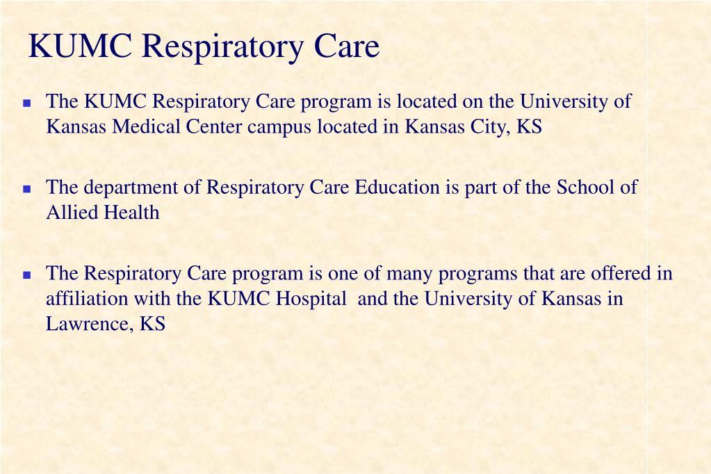 KUMC Respiratory Care