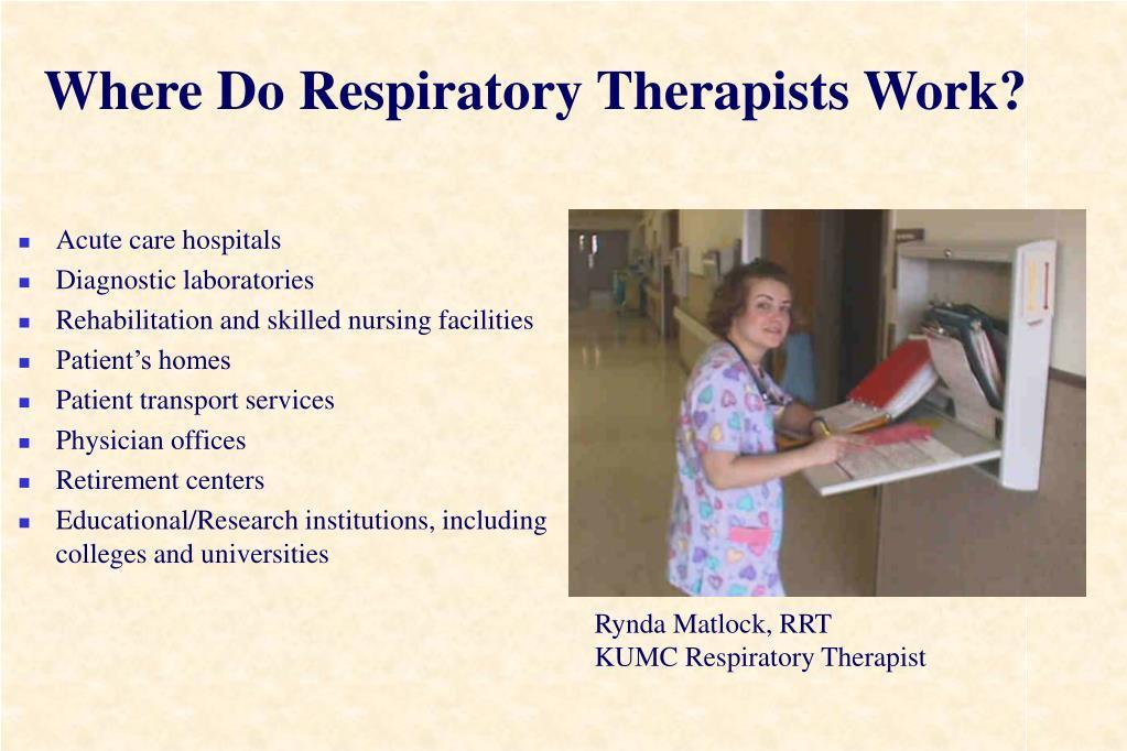 Where Do Respiratory Therapists Work?