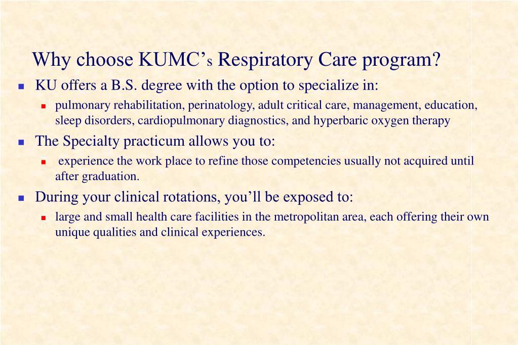 Why choose KUMC'