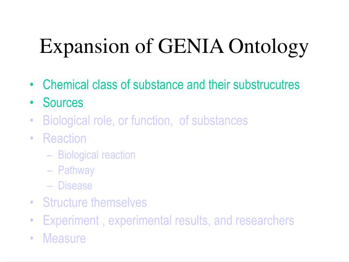 Expansion of GENIA Ontology