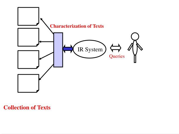 Characterization of Texts