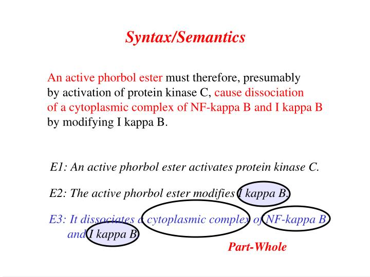 Syntax/Semantics