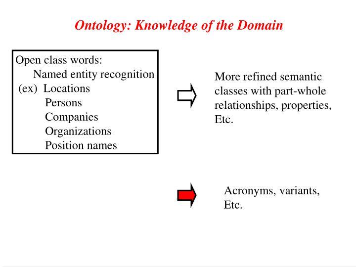 Open class words: