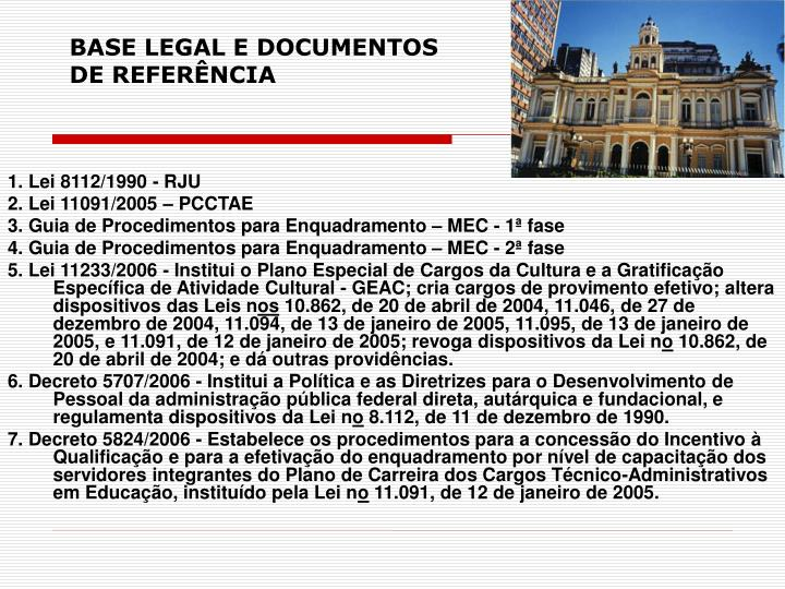 BASE LEGAL E DOCUMENTOS
