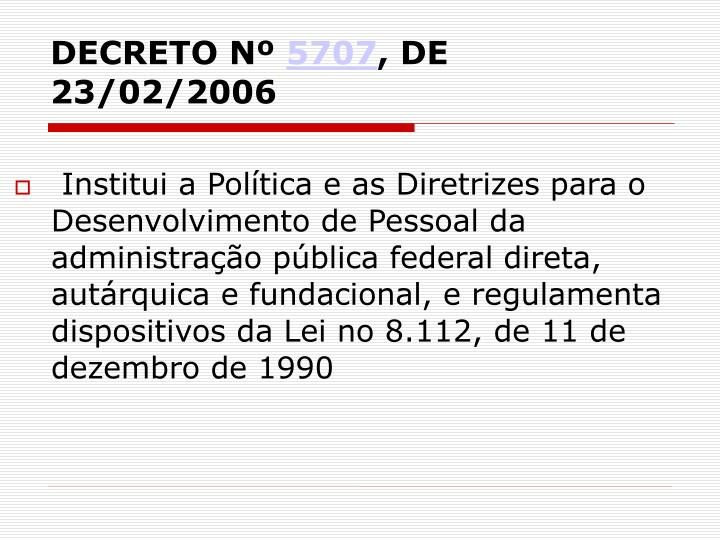 DECRETO Nº