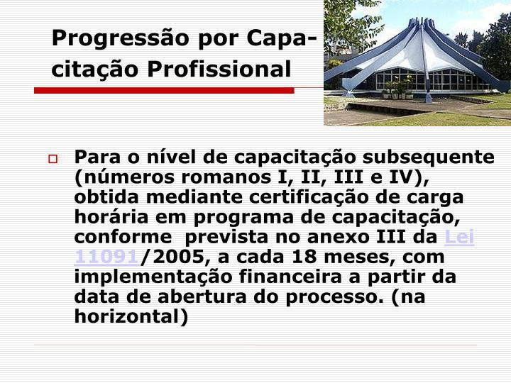Progressão por Capa-