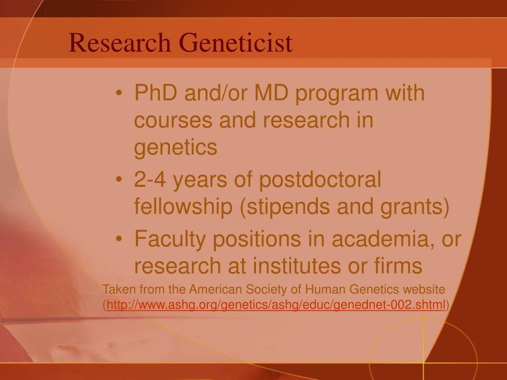 Research Geneticist