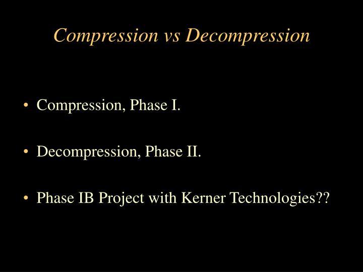 Compression vs Decompression