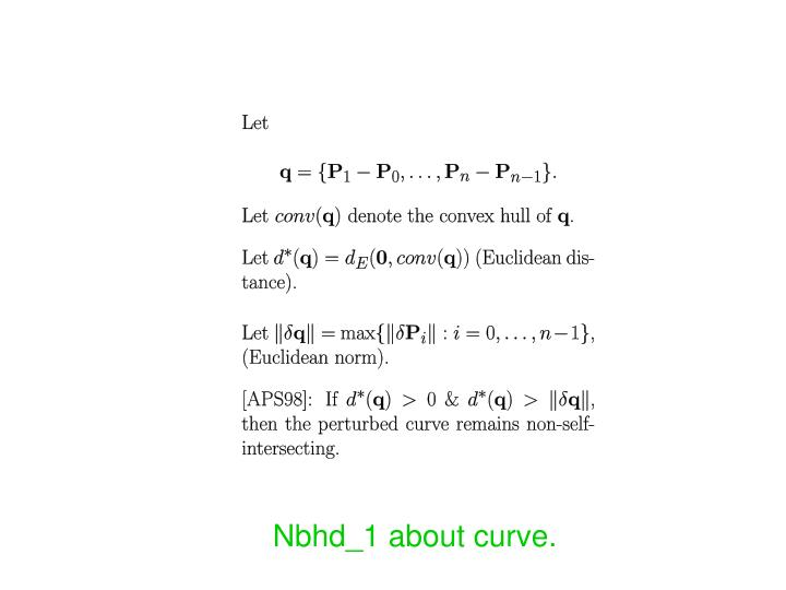 Nbhd_1 about curve.
