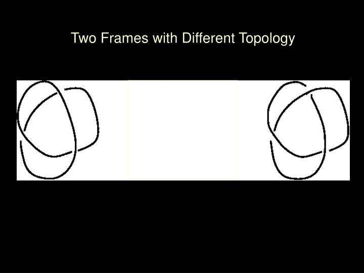 Two Frames with Different Topology