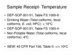 sample receipt temperature38