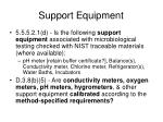 support equipment