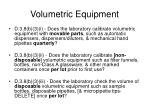 volumetric equipment