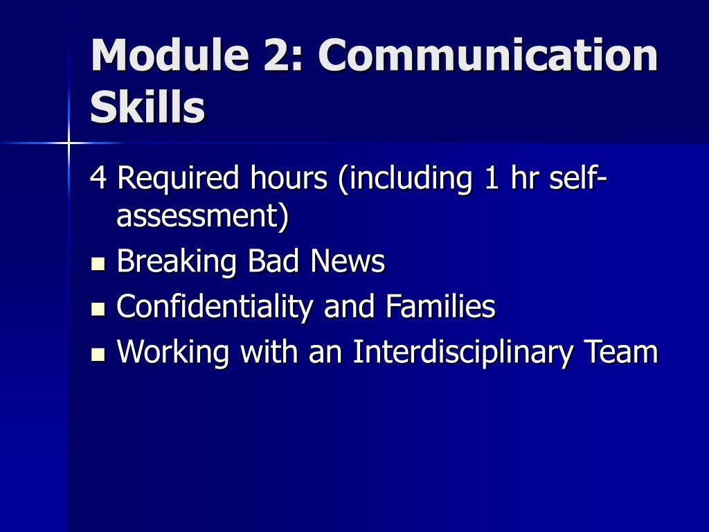 Module 2: Communication Skills