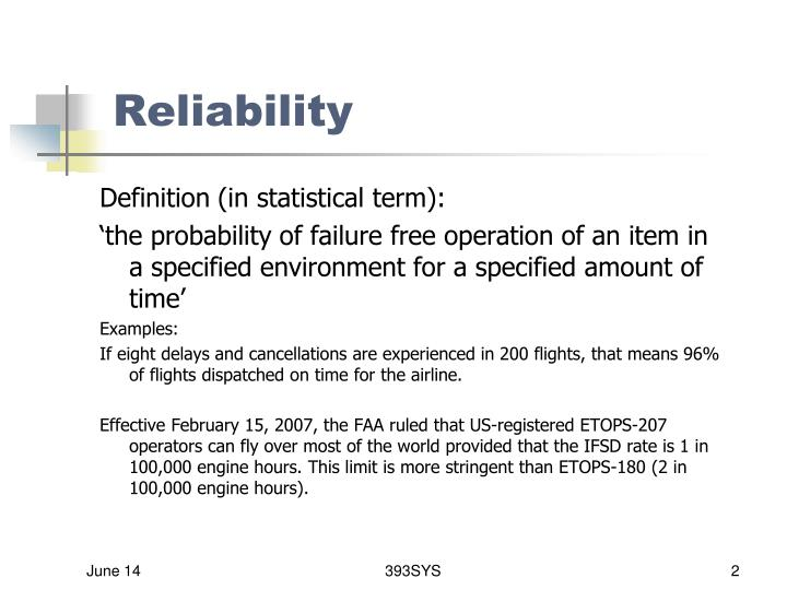 Dispatch reliability rate definition
