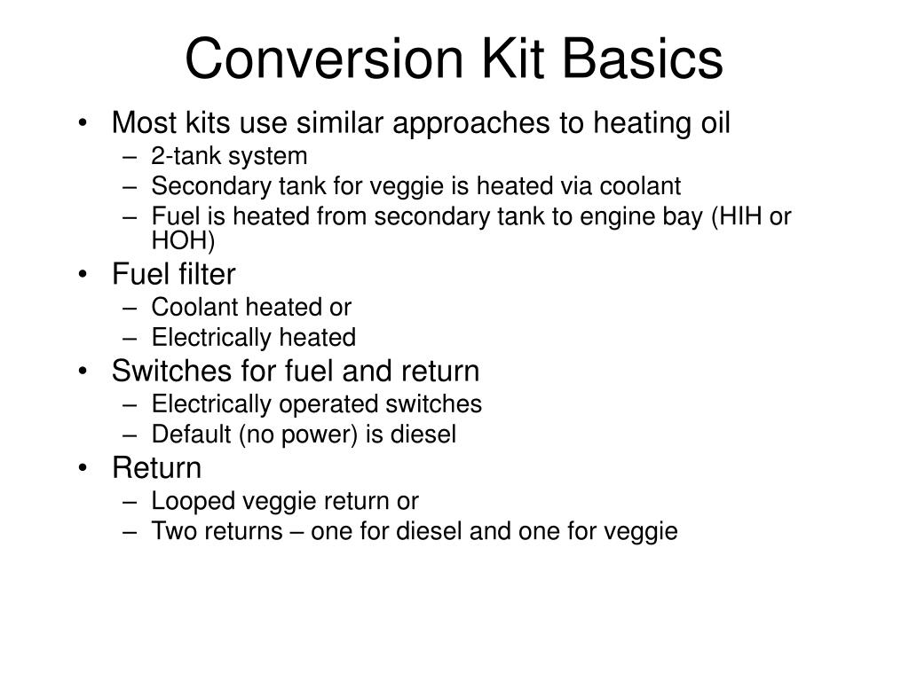 Conversion Kit Basics