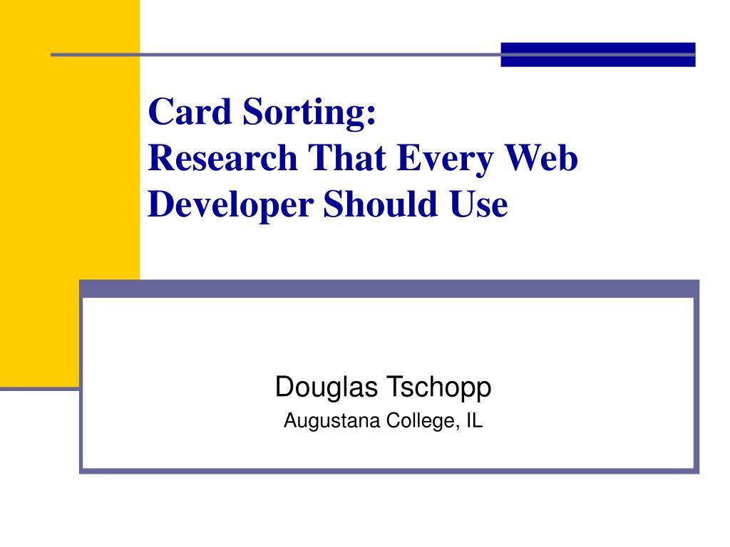 Card Sorting: