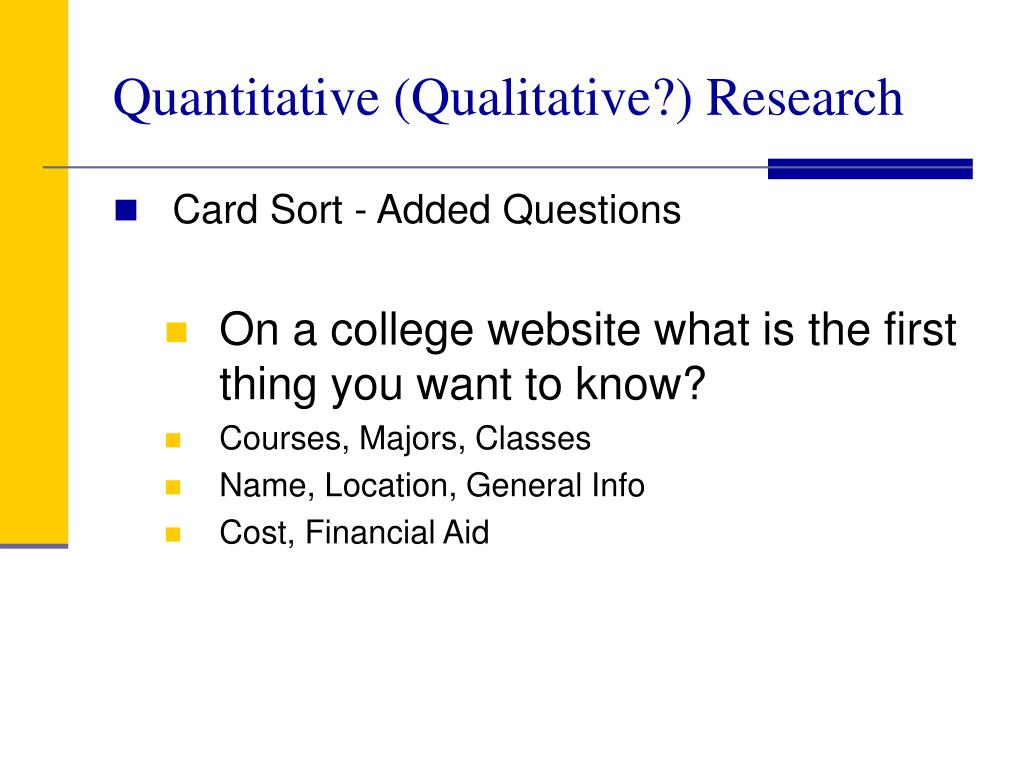Quantitative (Qualitative?) Research