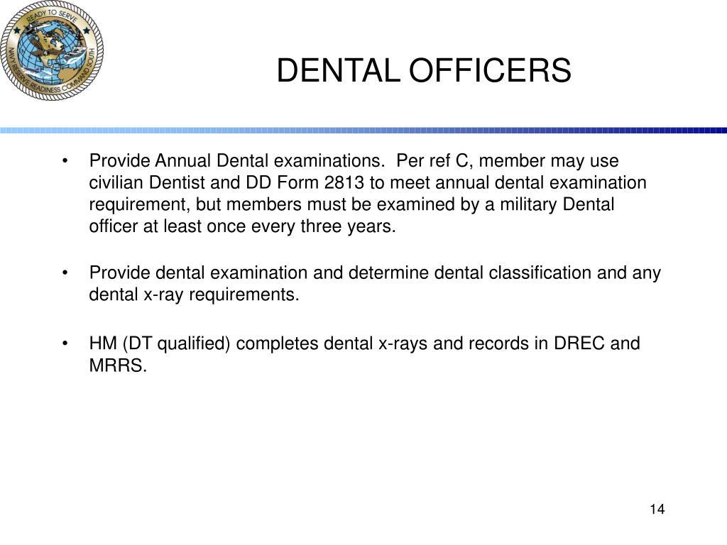 DENTAL OFFICERS