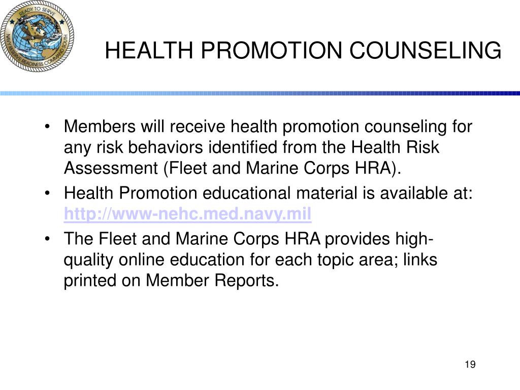 HEALTH PROMOTION COUNSELING