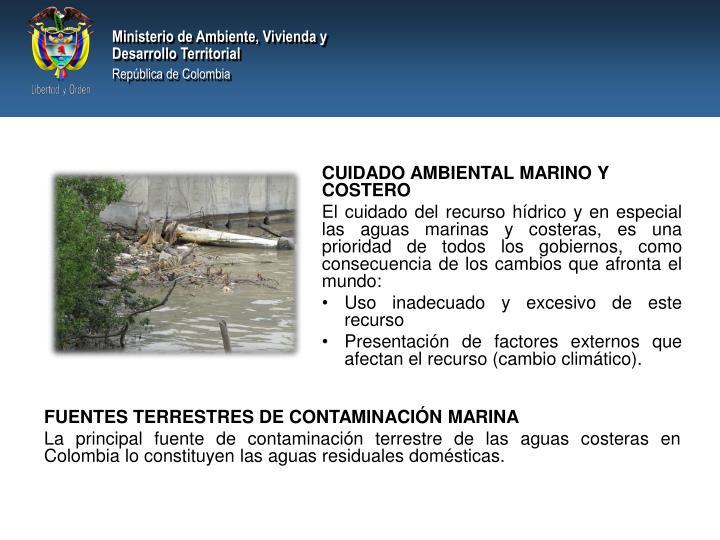 CUIDADO AMBIENTAL MARINO Y COSTERO