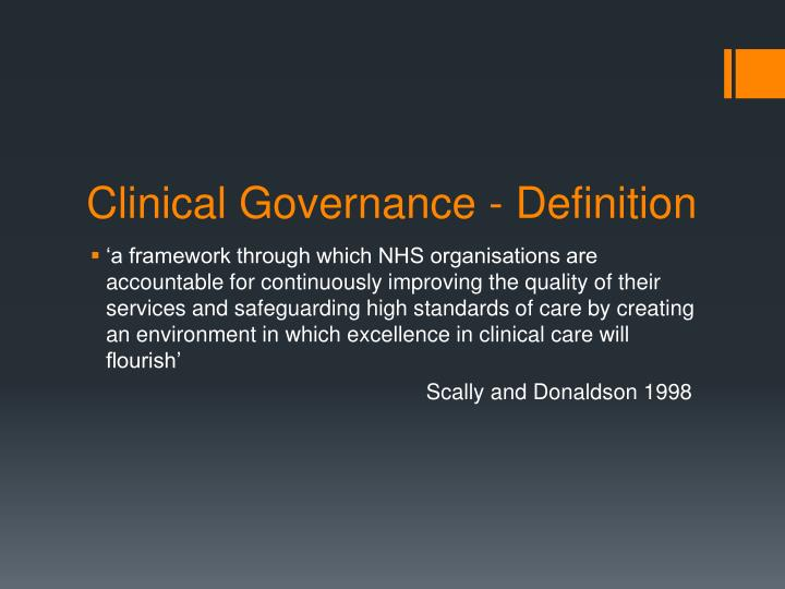 "healthcare governance definition Over the past few years one of the most common topics with customers seeking to improve their overall performance of the it groups was ""governance"" it often."