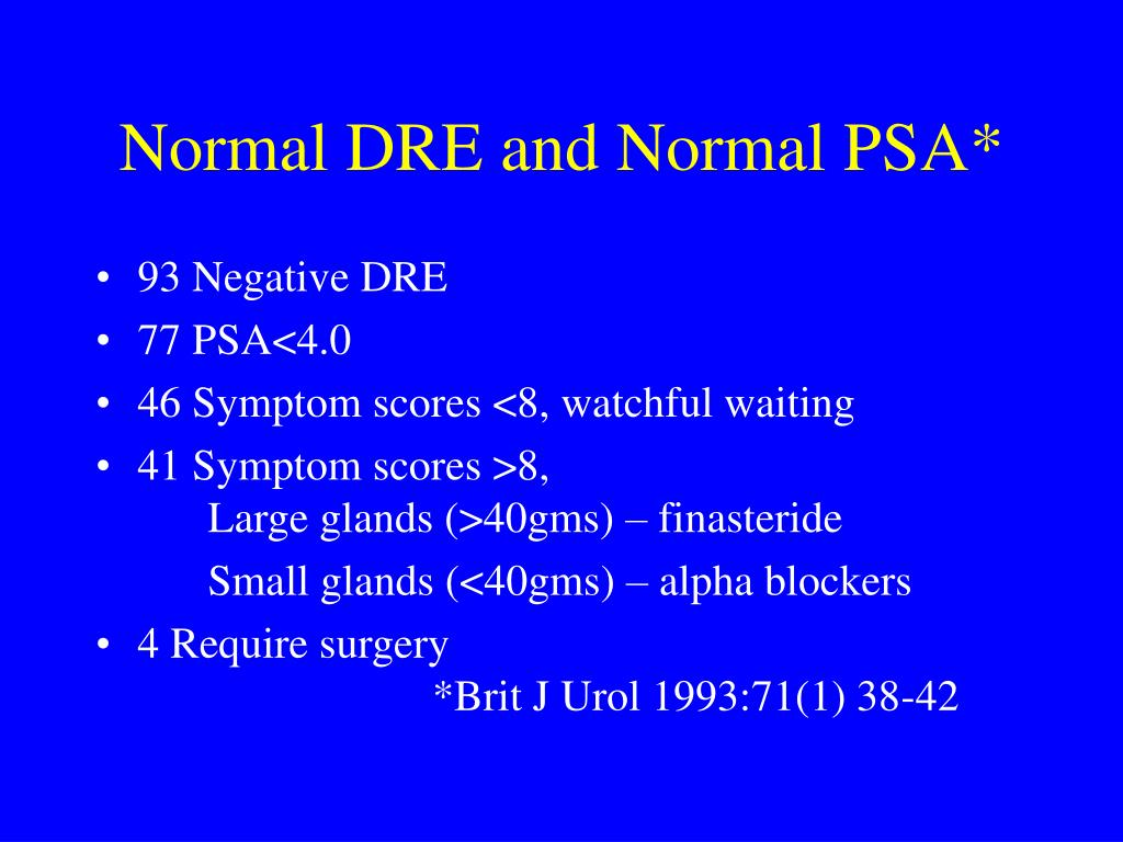 Normal DRE and Normal PSA*