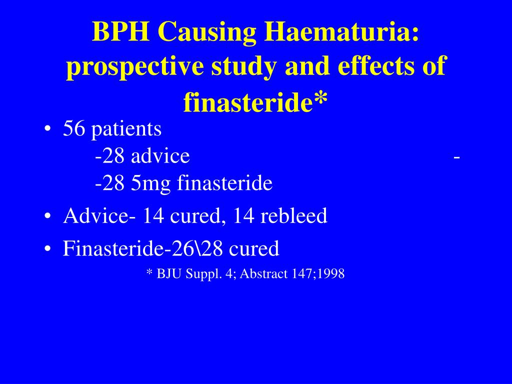 BPH Causing Haematuria: prospective study and effects of finasteride