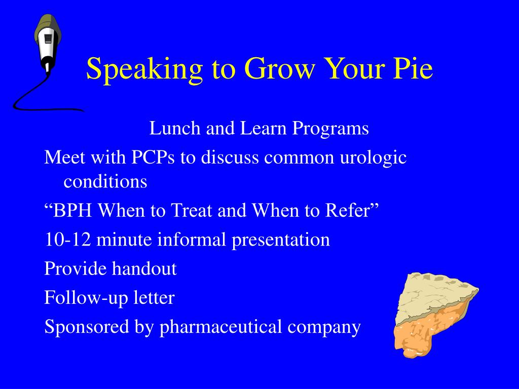 Speaking to Grow Your Pie