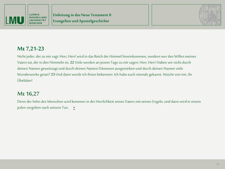 Einleitung in das Neue Testament II