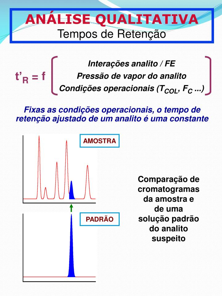 Interaes analito / FE