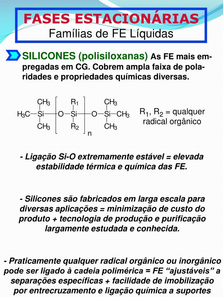 SILICONES (polisiloxanas)
