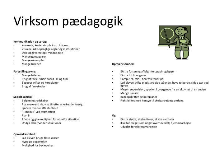 Virksom pædagogik