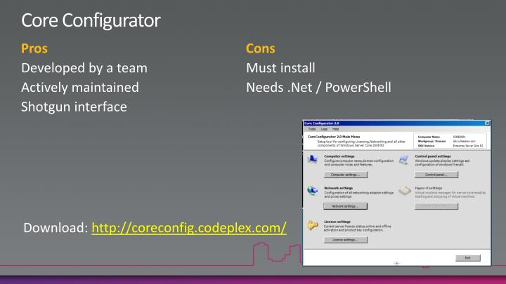 Core Configurator