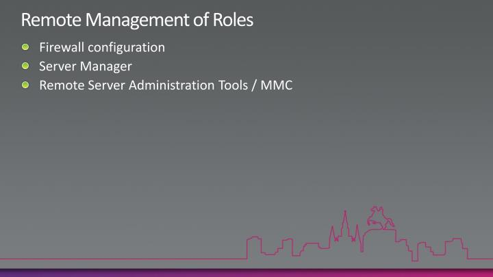 Remote Management of Roles