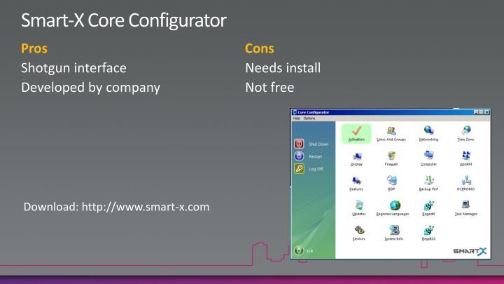 Smart-X Core Configurator