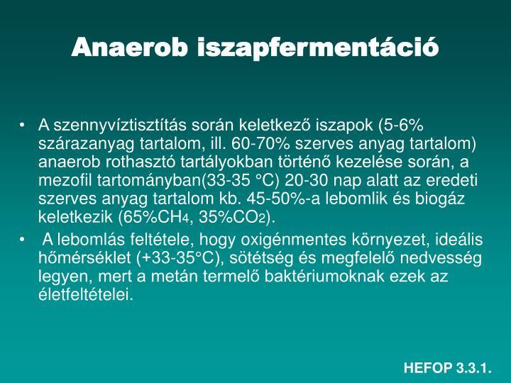 Anaerob iszapfermentáció