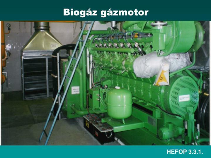 Biogáz gázmotor