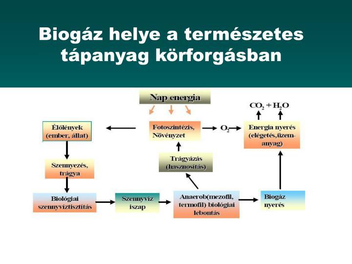 Biogáz helye a természetes tápanyag körforgásban
