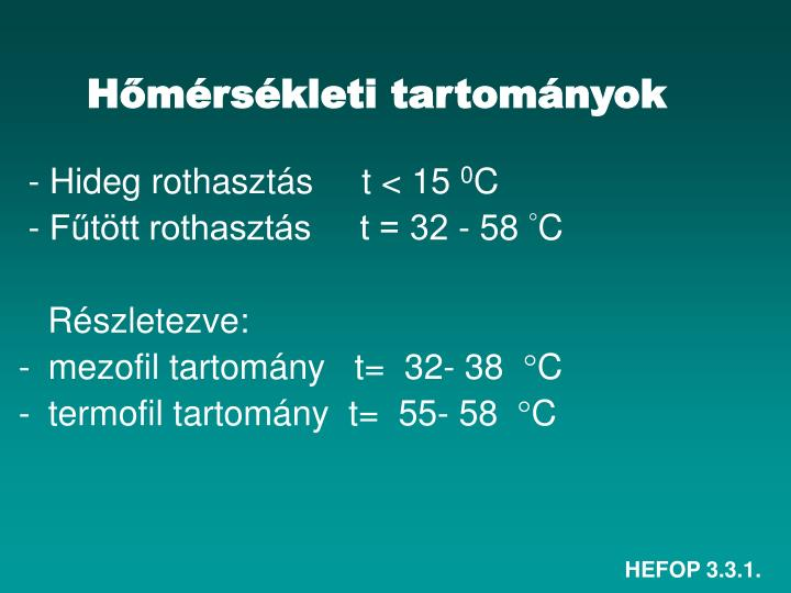 Hőmérsékleti tartományok