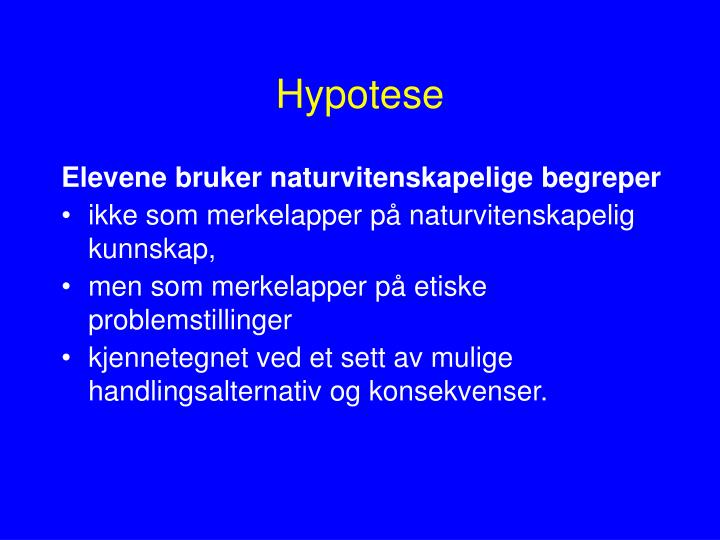 Hypotese